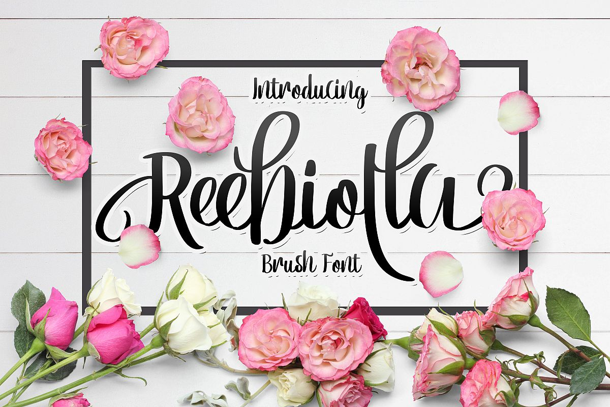 Reebiolla Brush Font example image