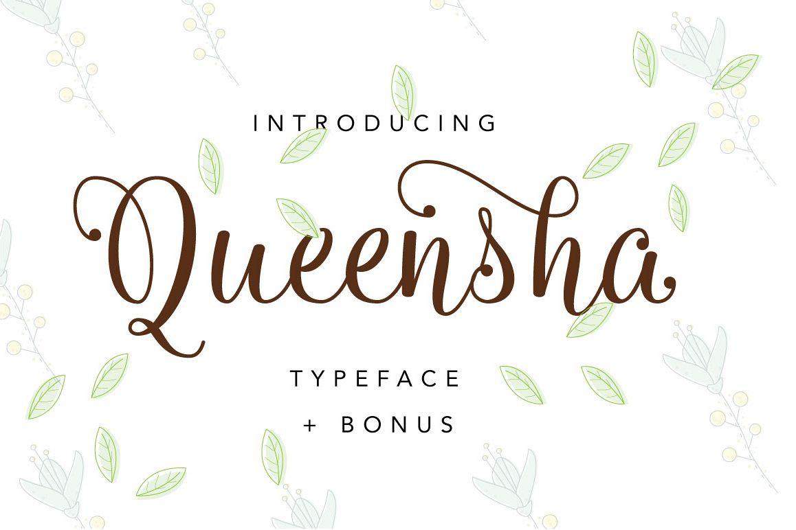 Queensha Typeface example image