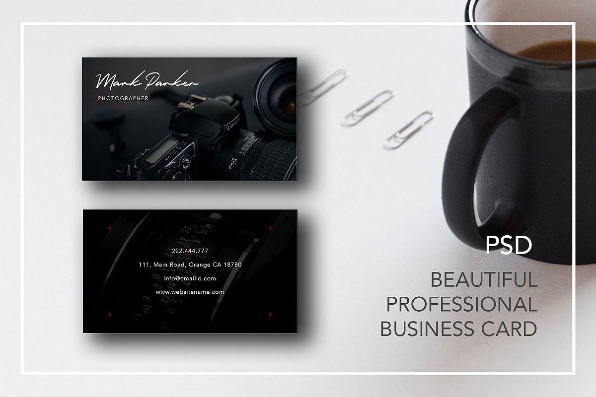 Professional Photography business card | Design Bundles