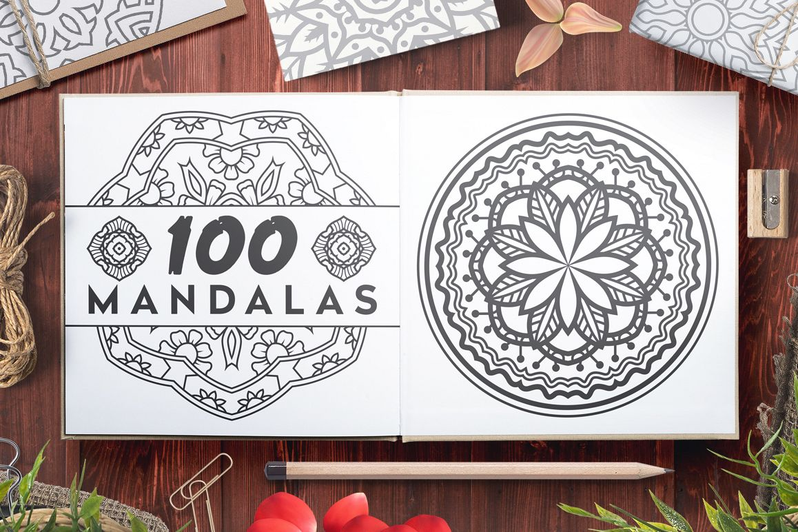 100 Vector Mandala Ornaments example image