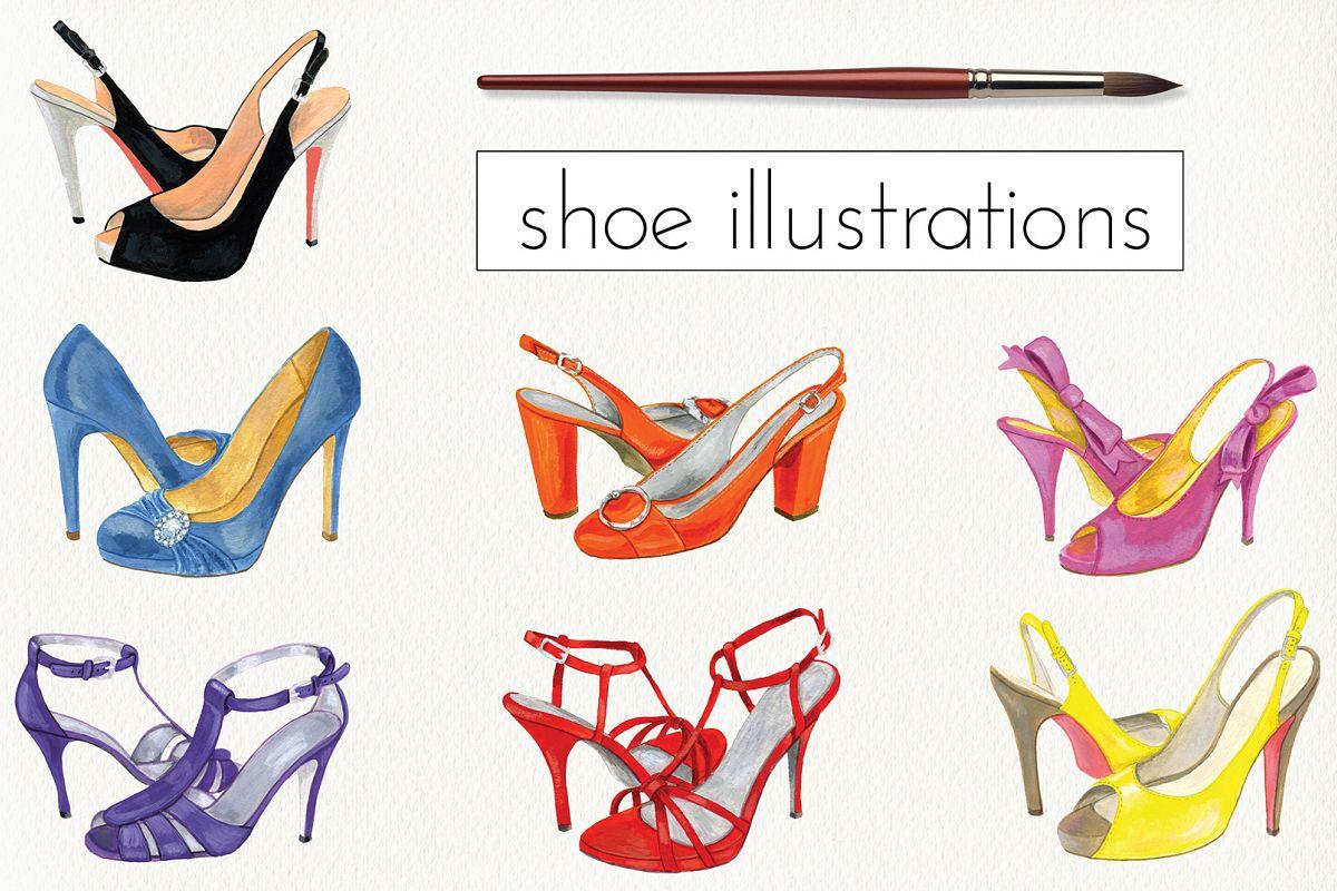 Fashion Shoe Illustrations example image
