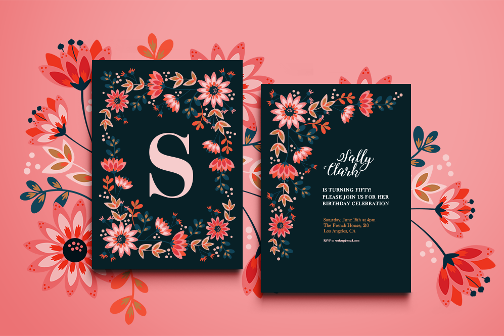 Sochi floral invitation by werlang paper design bundles sochi floral invitation example image stopboris Images