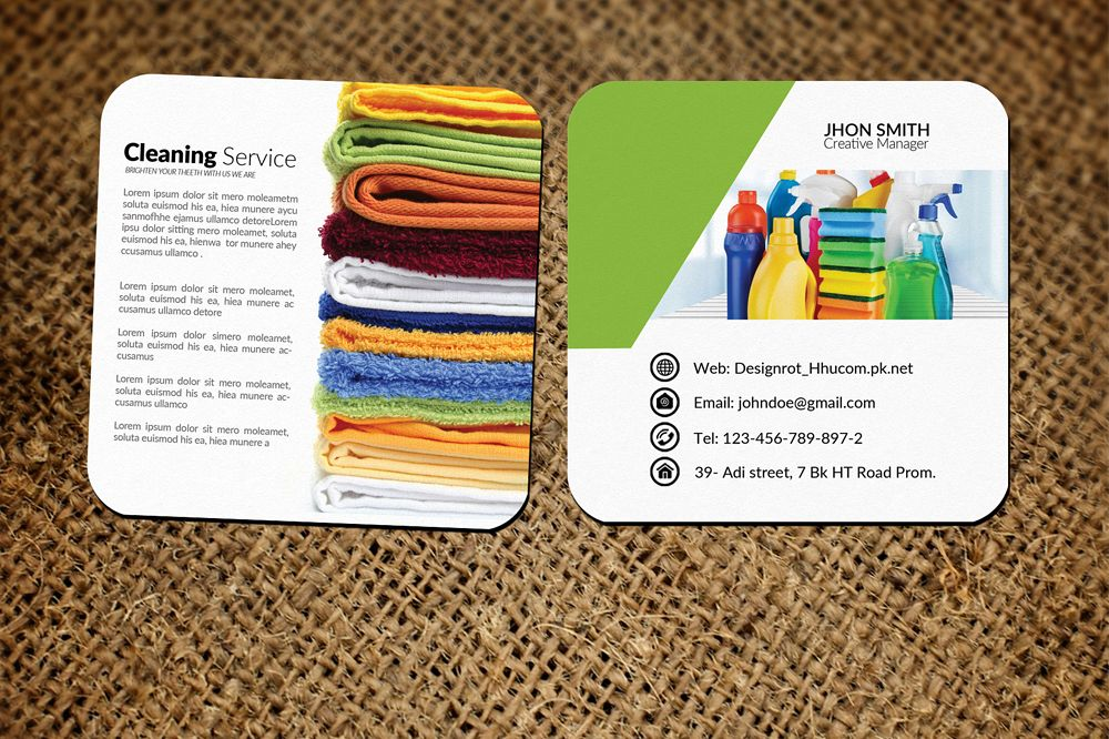 Cleaning Service Small Business Cards b | Design Bundles