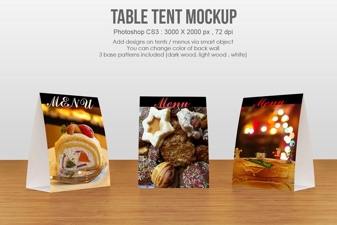 Table tent / menu Mockup ex&le image & Table tent / menu Mockup by aivos | Design Bundles