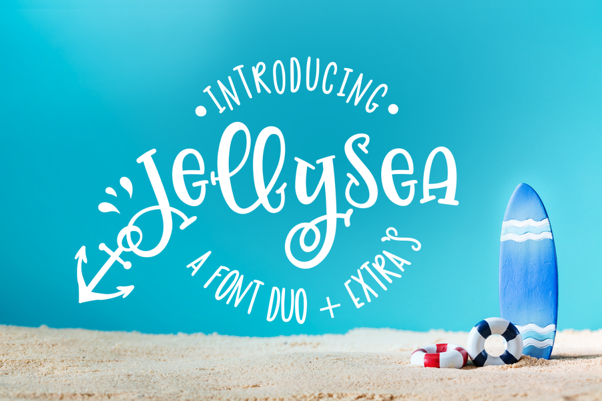Jellysea - Font Duo + Summer Doodles example image
