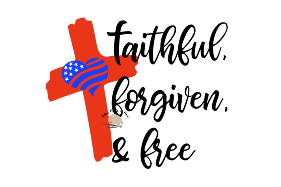 Download Faithful Forgiven & Free SVG CUT file F | Design Bundles