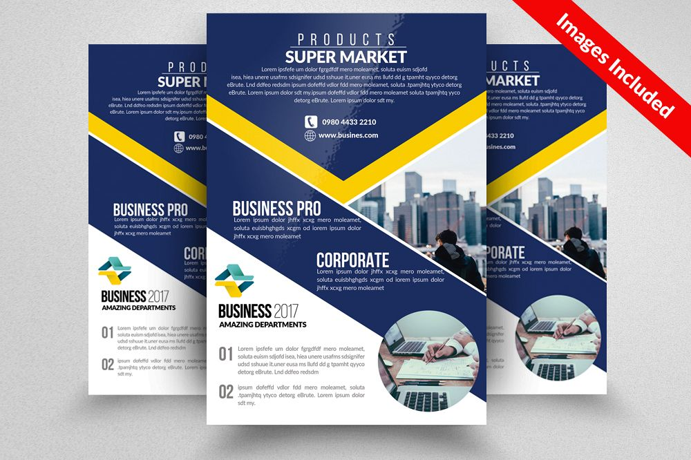 Business Firm Flyers Templates By Desig Design Bundles
