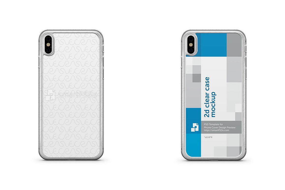 apple iphone x 2d clear mobile case des design bundles