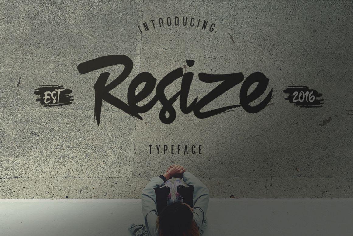 Resize Typeface example image