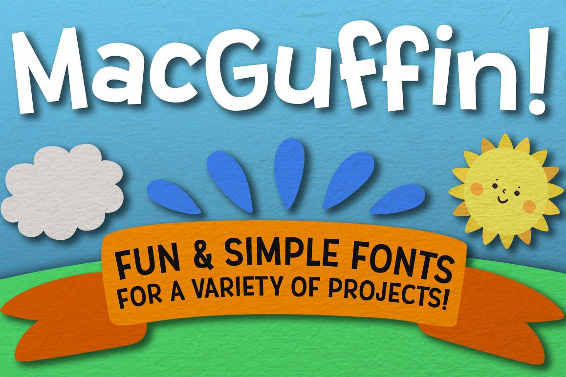 MacGuffin fun font set example image