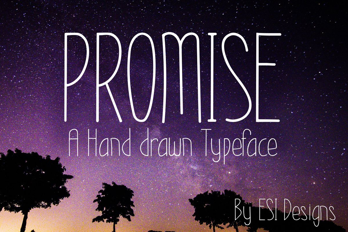 Promise - A Modern Hand Drawn Font example image