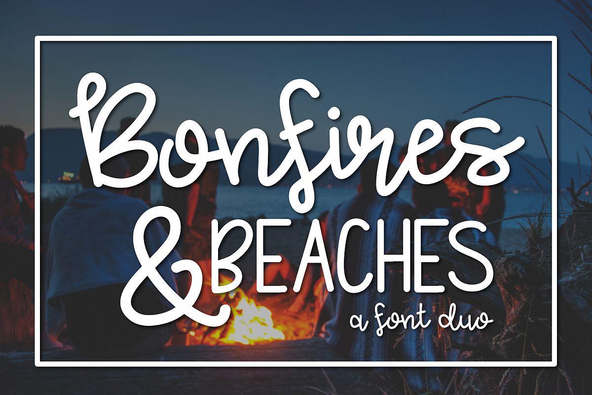 Bonfires & Beaches a Font Duo example image