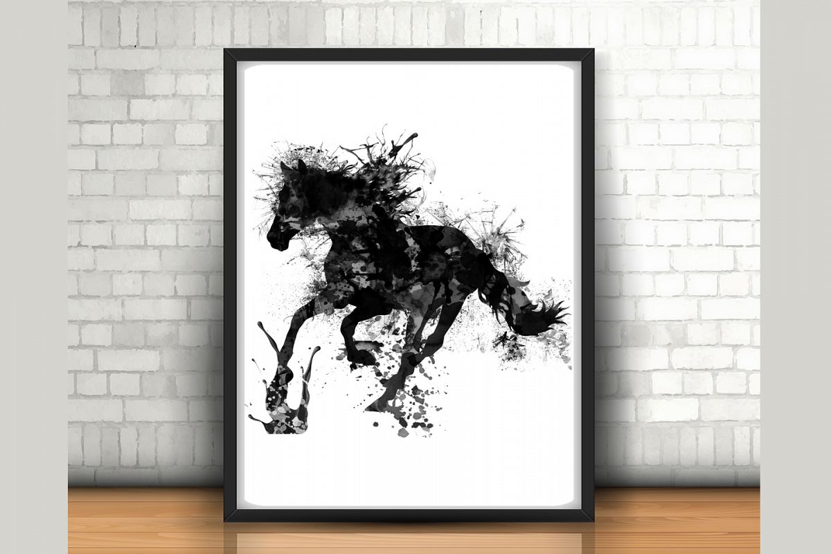 Amazing Horse Wall Art   Size 24x36 Inches   High Resolution (300 Dpi)   (