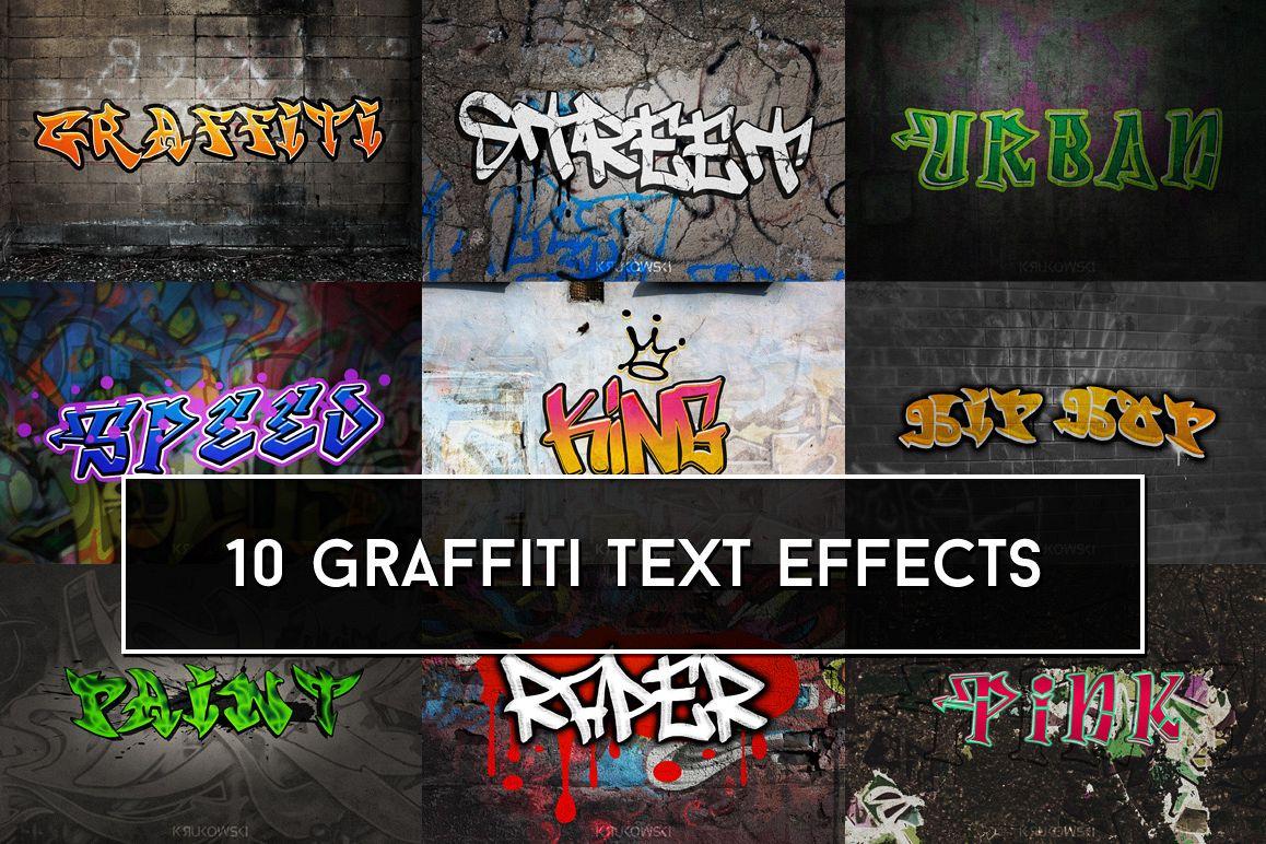Graffiti Text Effects Mockup example image