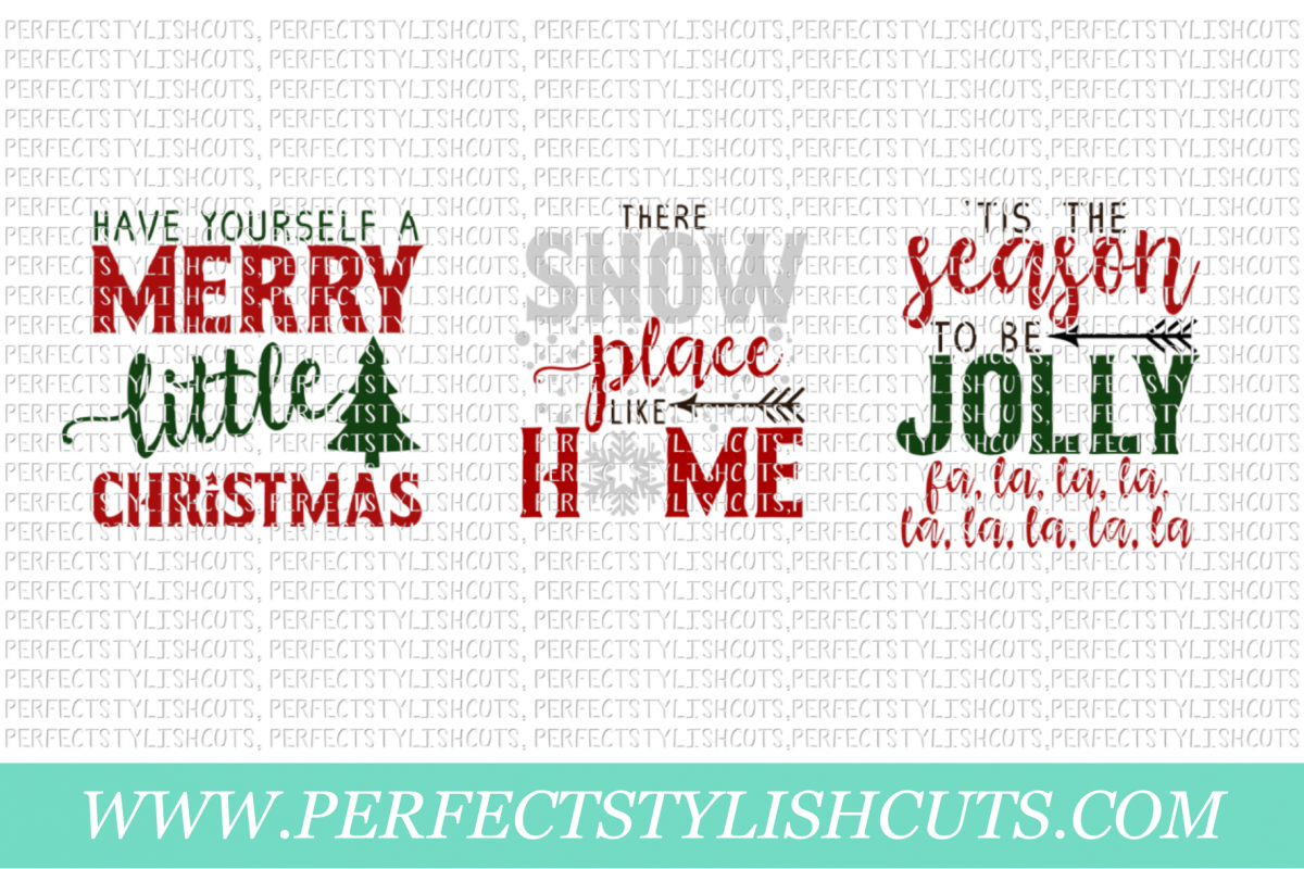 Christmas Wood Sign Designs Collection - SVG, EPS, DXF, PNG Files For Cutting Machines example image 4