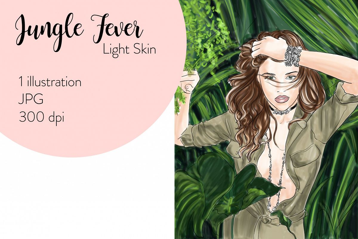Fashion illustration - Jungle Fever - Light Skin example image