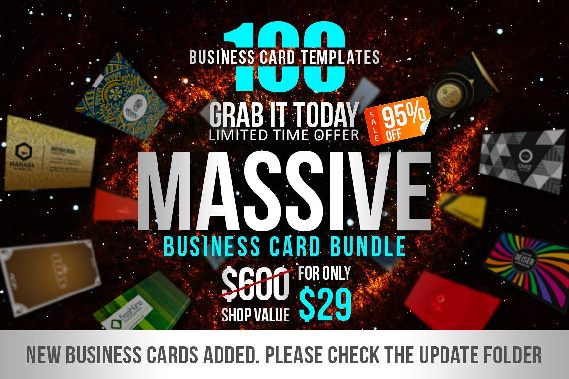 100 massive business card bundle by mar design bundles 100 massive business card bundle example image colourmoves