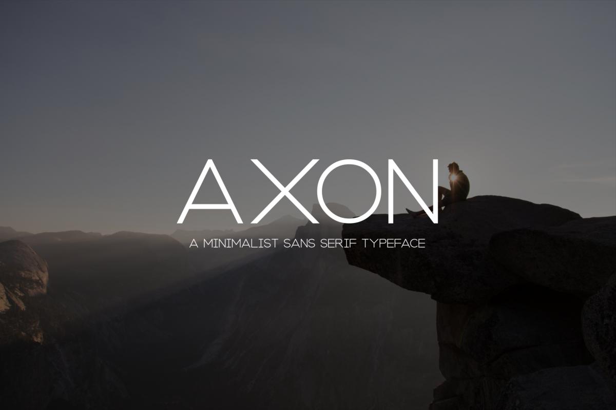 Axon   Minimalist Sans Serif Family example image