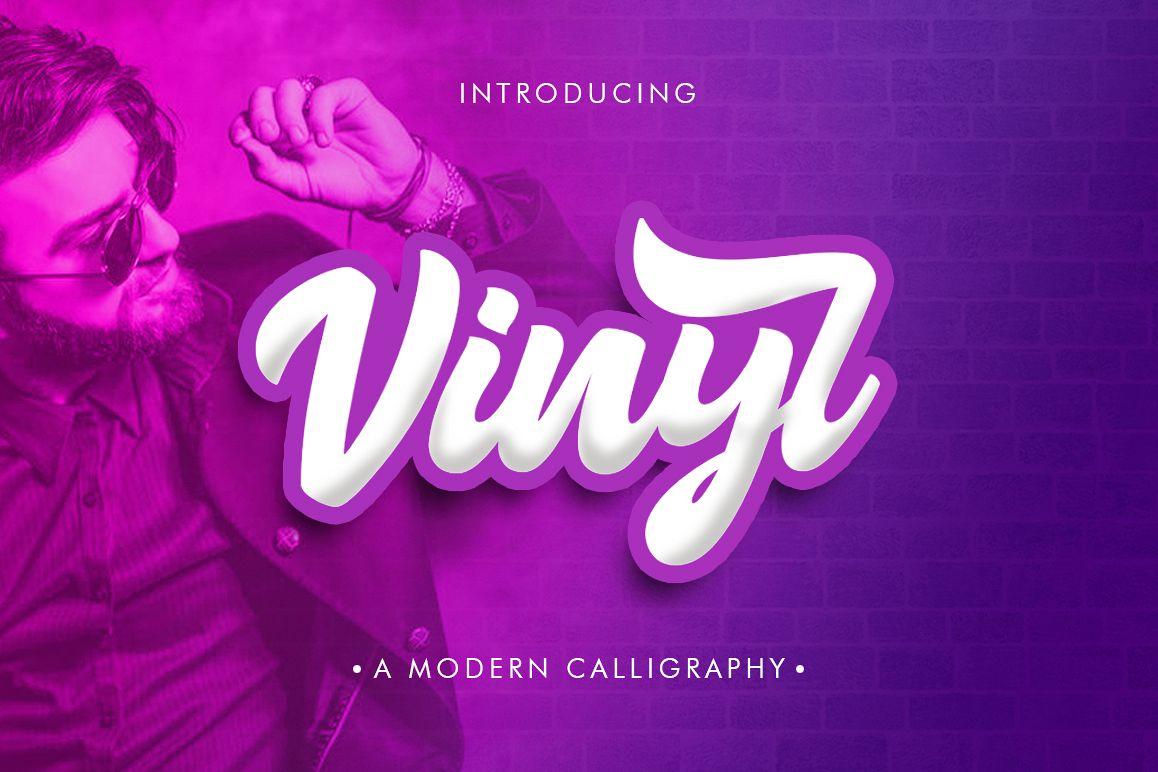 Vinyl Script example image