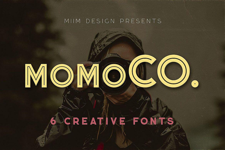 Momoco - Display Font example image