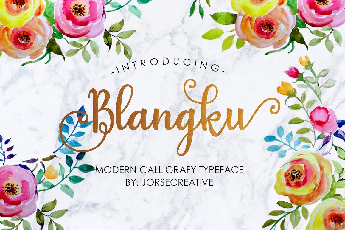 Blangku Font example image