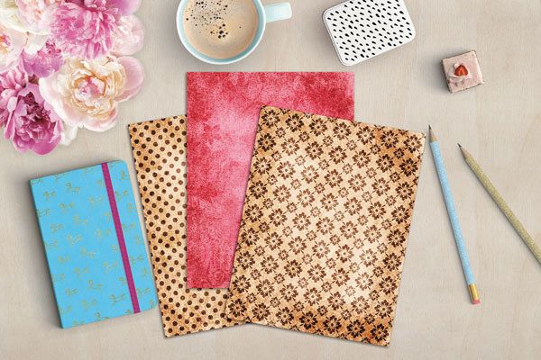 Pink and Brown Digital Journal Papers example image 2