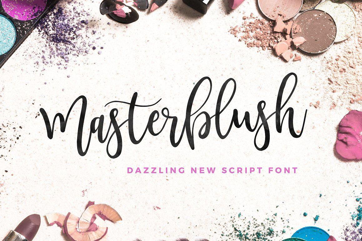 Masterblush Font example image