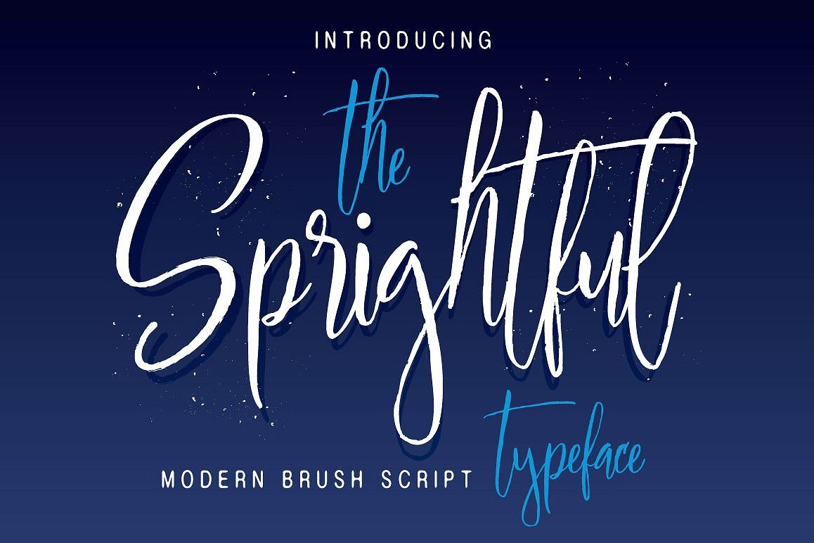 Sprightful Typeface example image