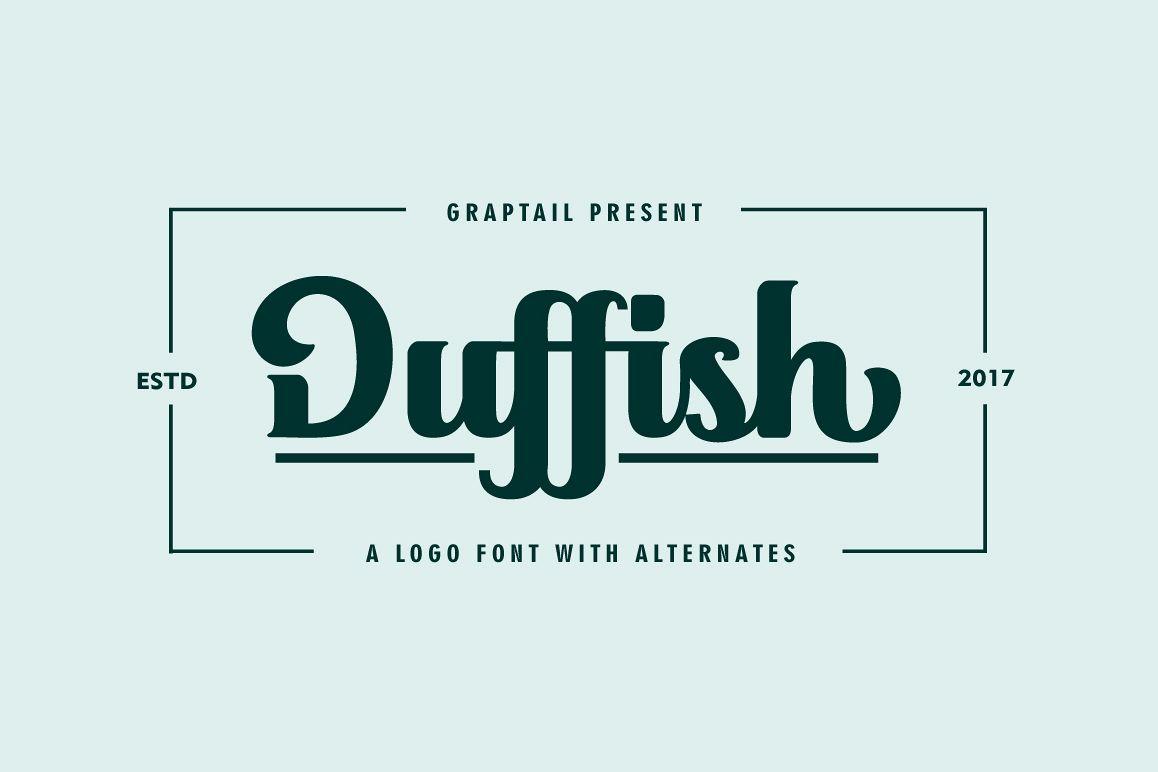 Duffish - Logo Font example image