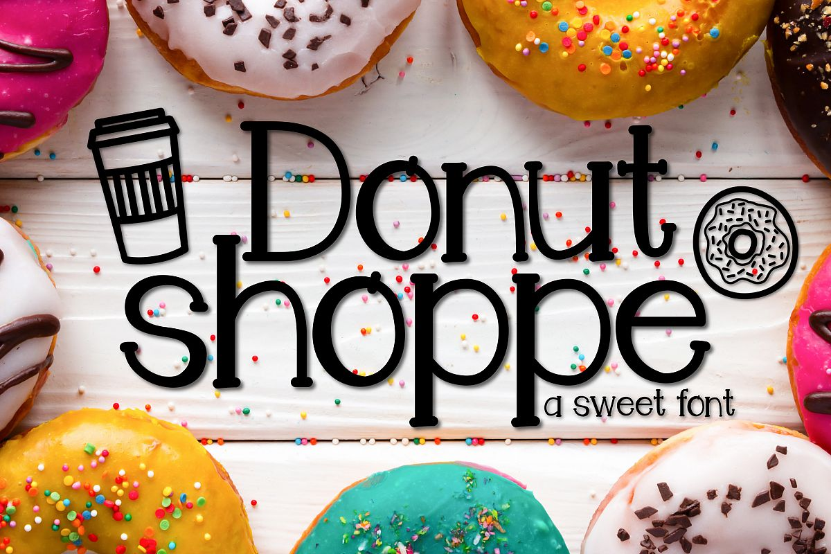 Donut Shoppe a Sweet Font example image