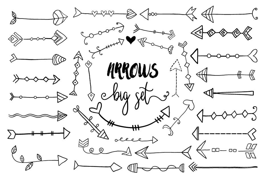 black hand drawn doodle arrows clipart design bundles rh designbundles net arrow clip art free images arrow clip art png