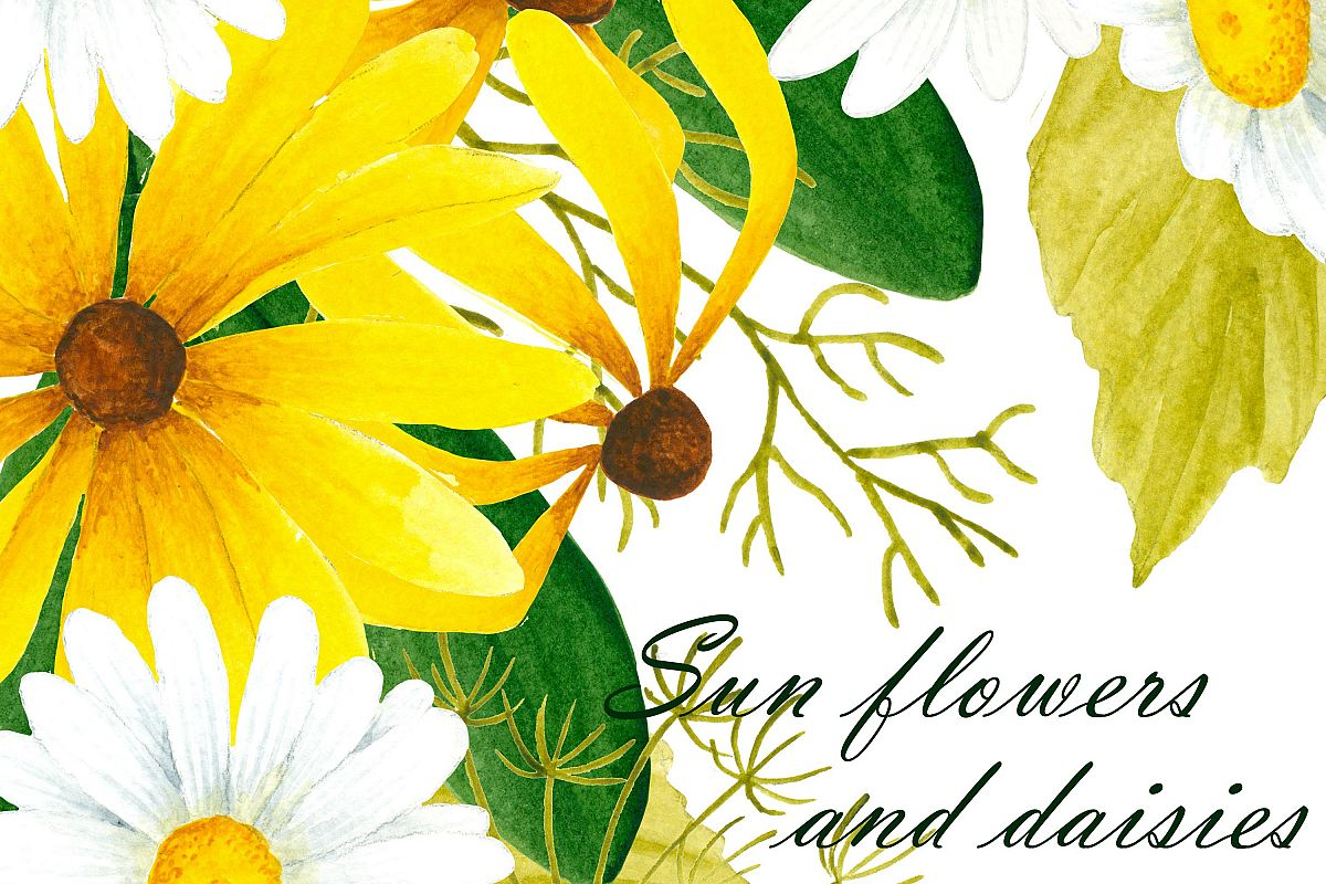 Black eyed susan and daisy flower clipa design bundles black eyed susan and daisy flower clipart example image izmirmasajfo