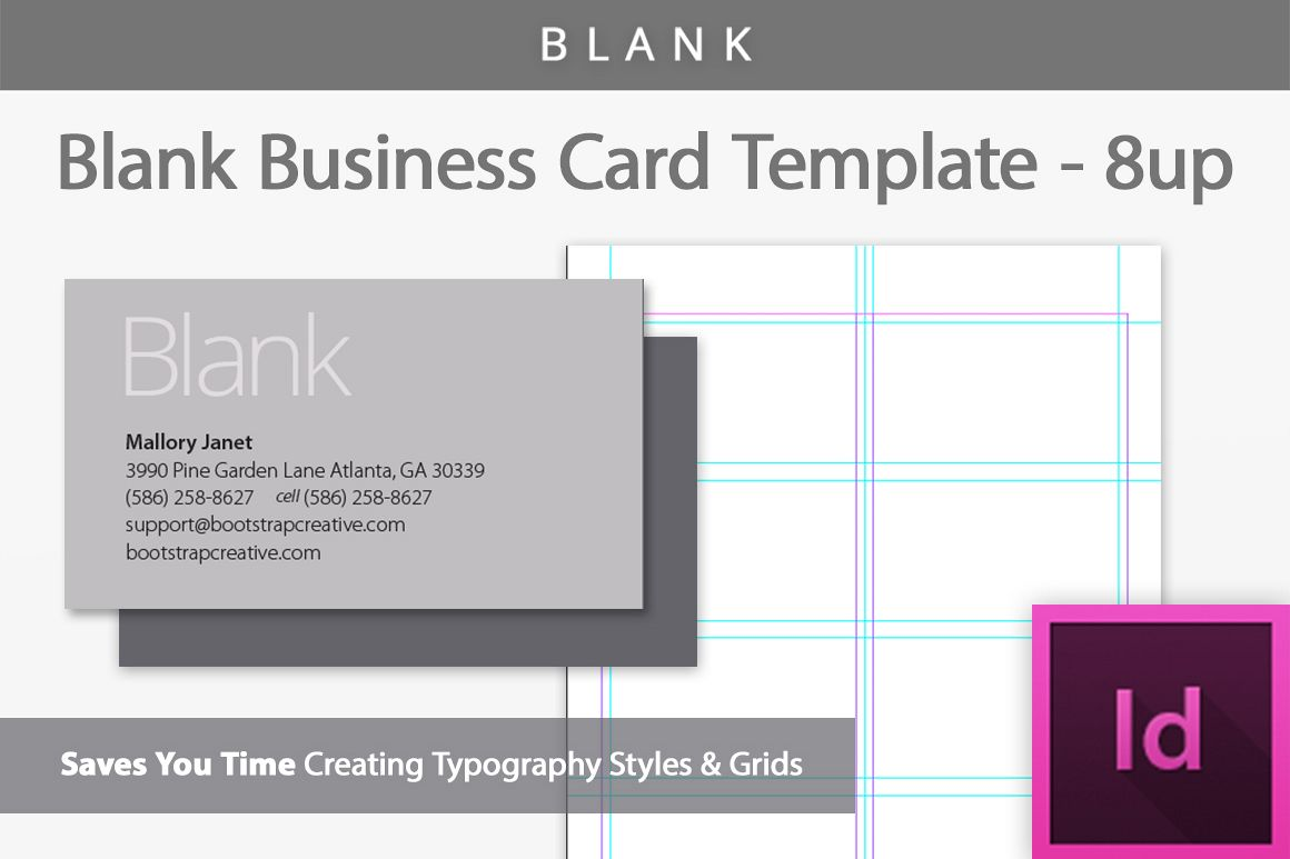 Blank Business Card InDesign Template B Design Bundles - Business card indesign template