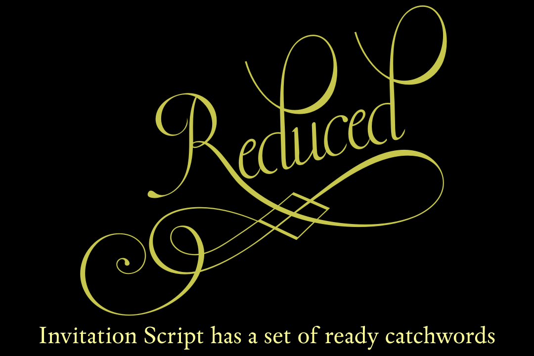 Invitation Script Pack (4 fonts) example image 7