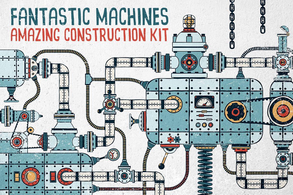 Fantastic Machines Construction Kit example image