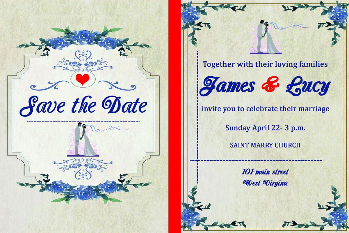 Classic wedding invitation card by Mast | Design Bundles