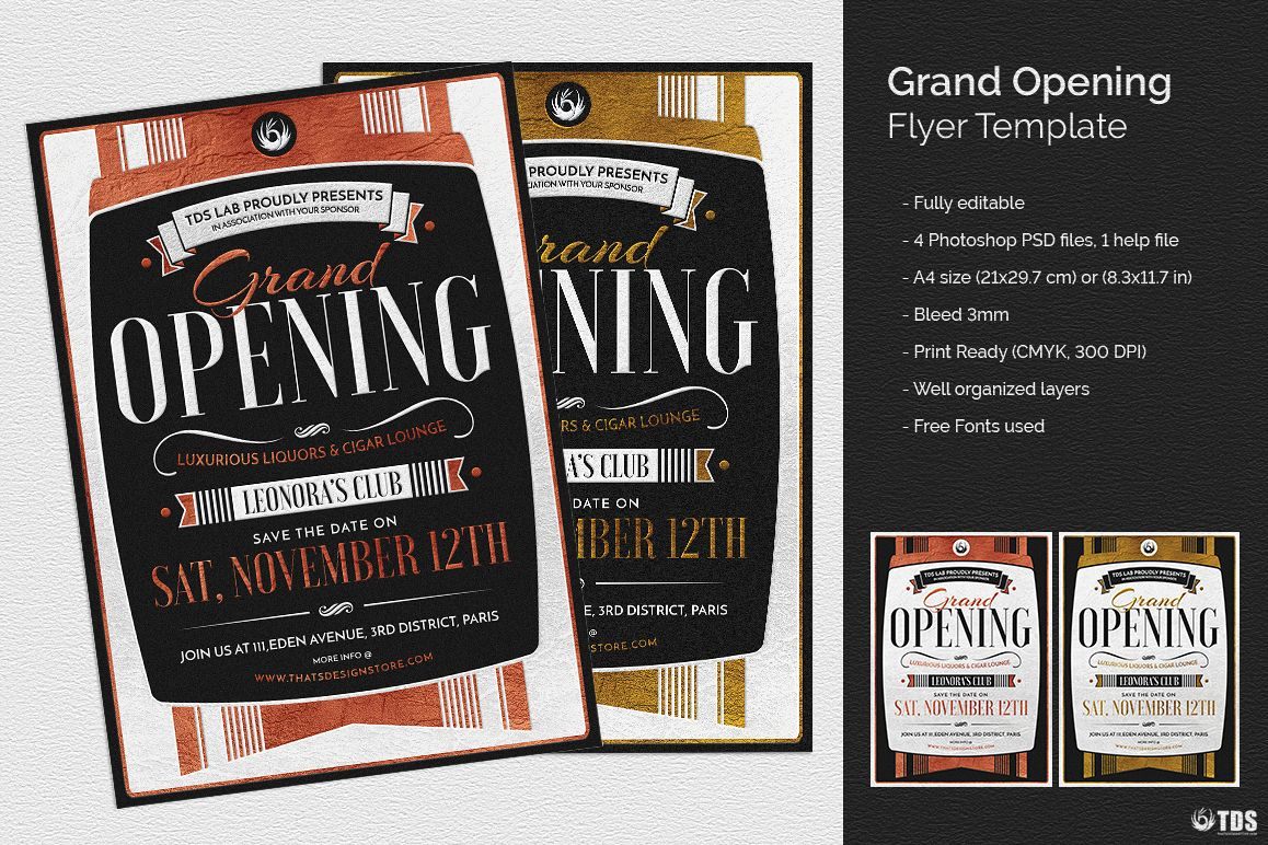 Grand Opening Flyer Template example image