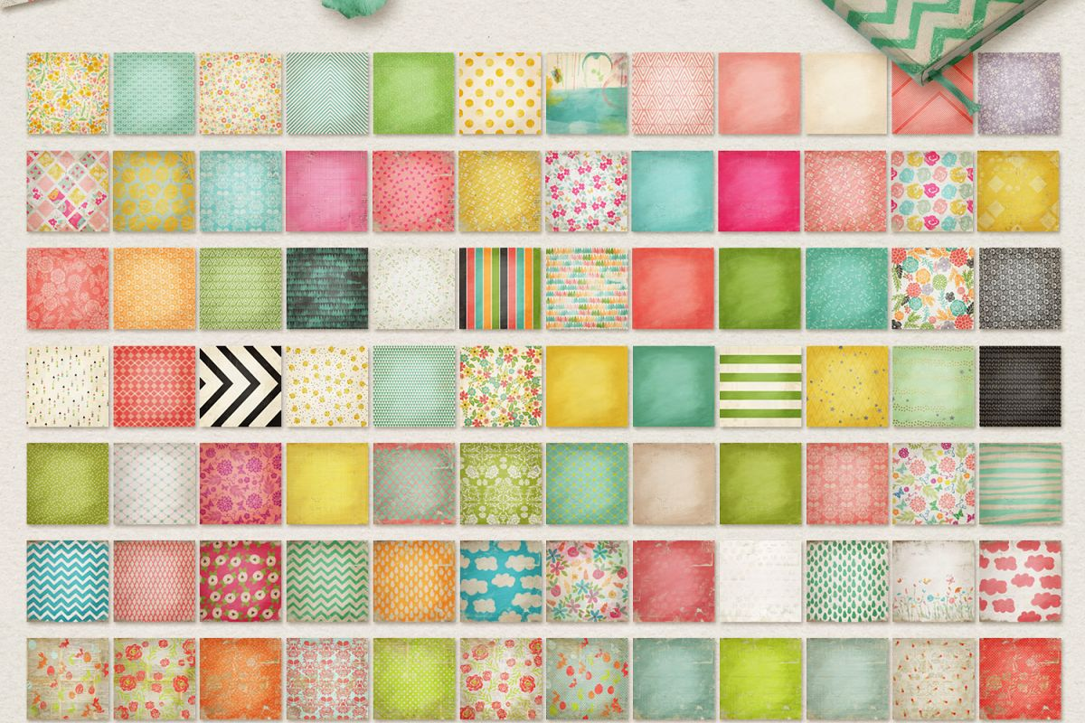 Spring Digital Papers Collections example image