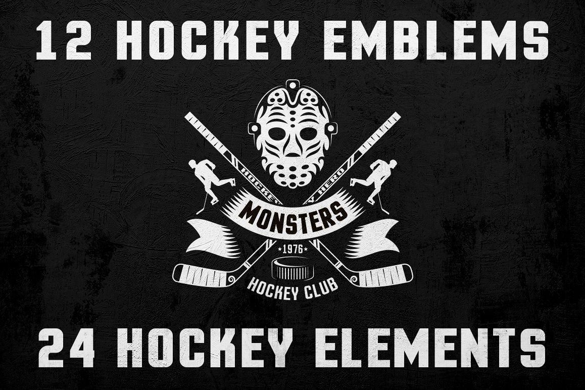 Hockey Logo on Dark example image