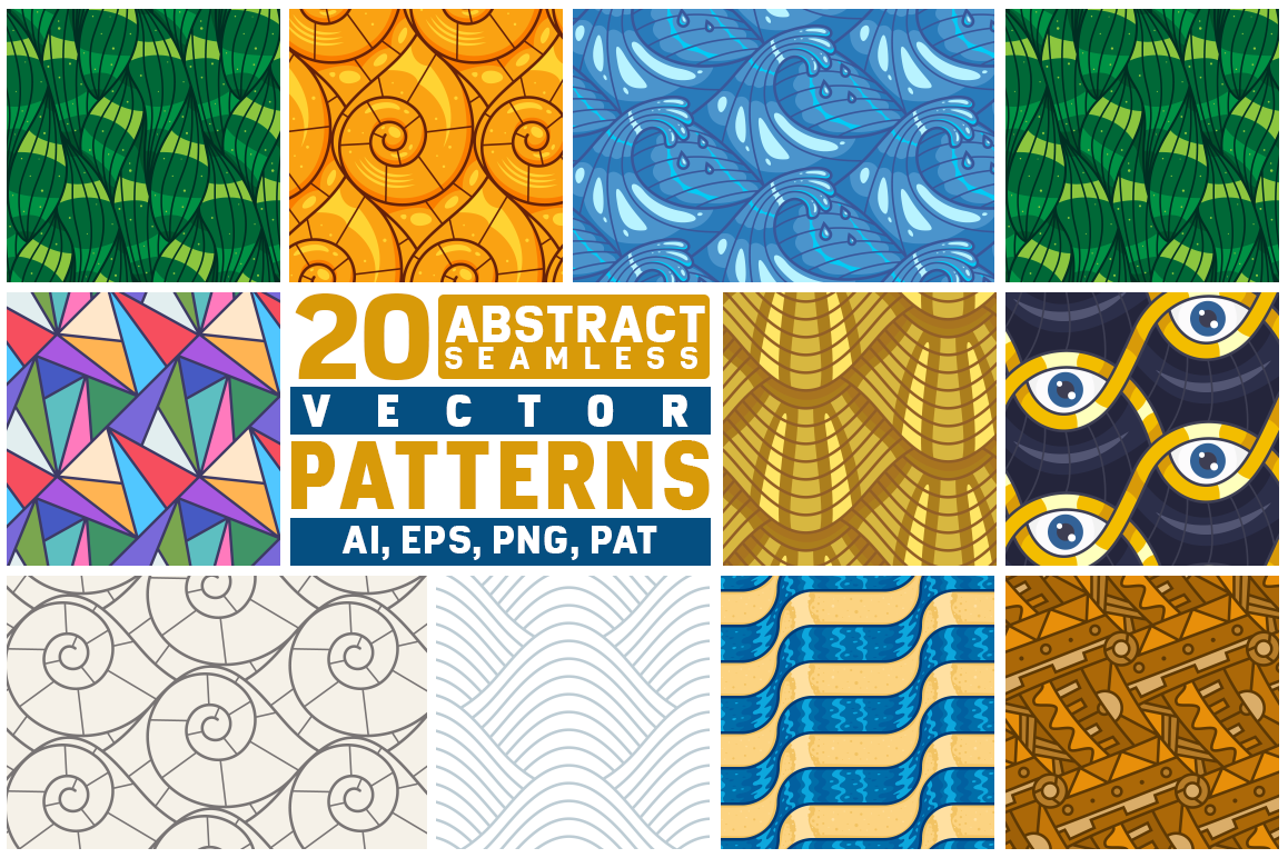20 Abstract Seamless Line Patterns example image