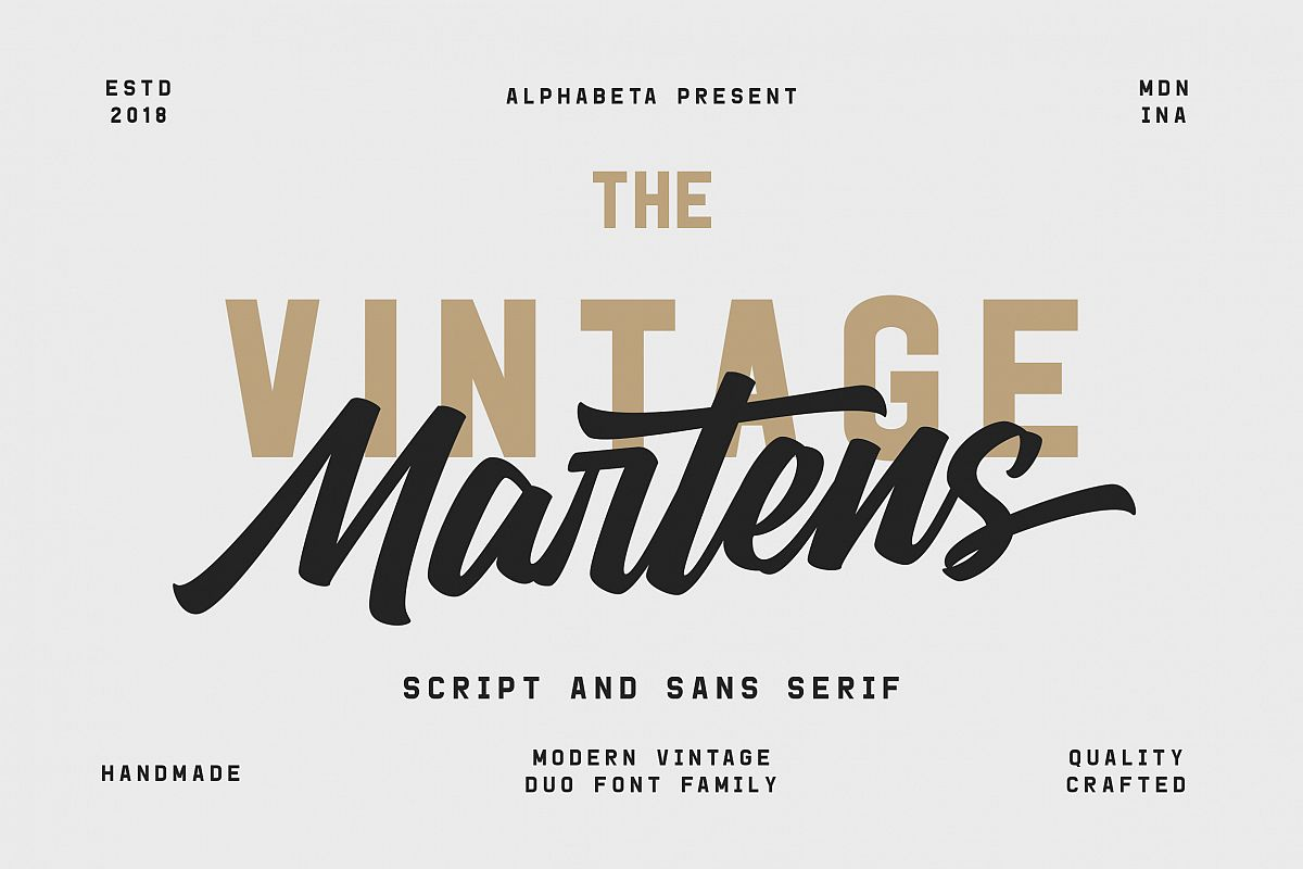 Martens Script | Duo Font example image