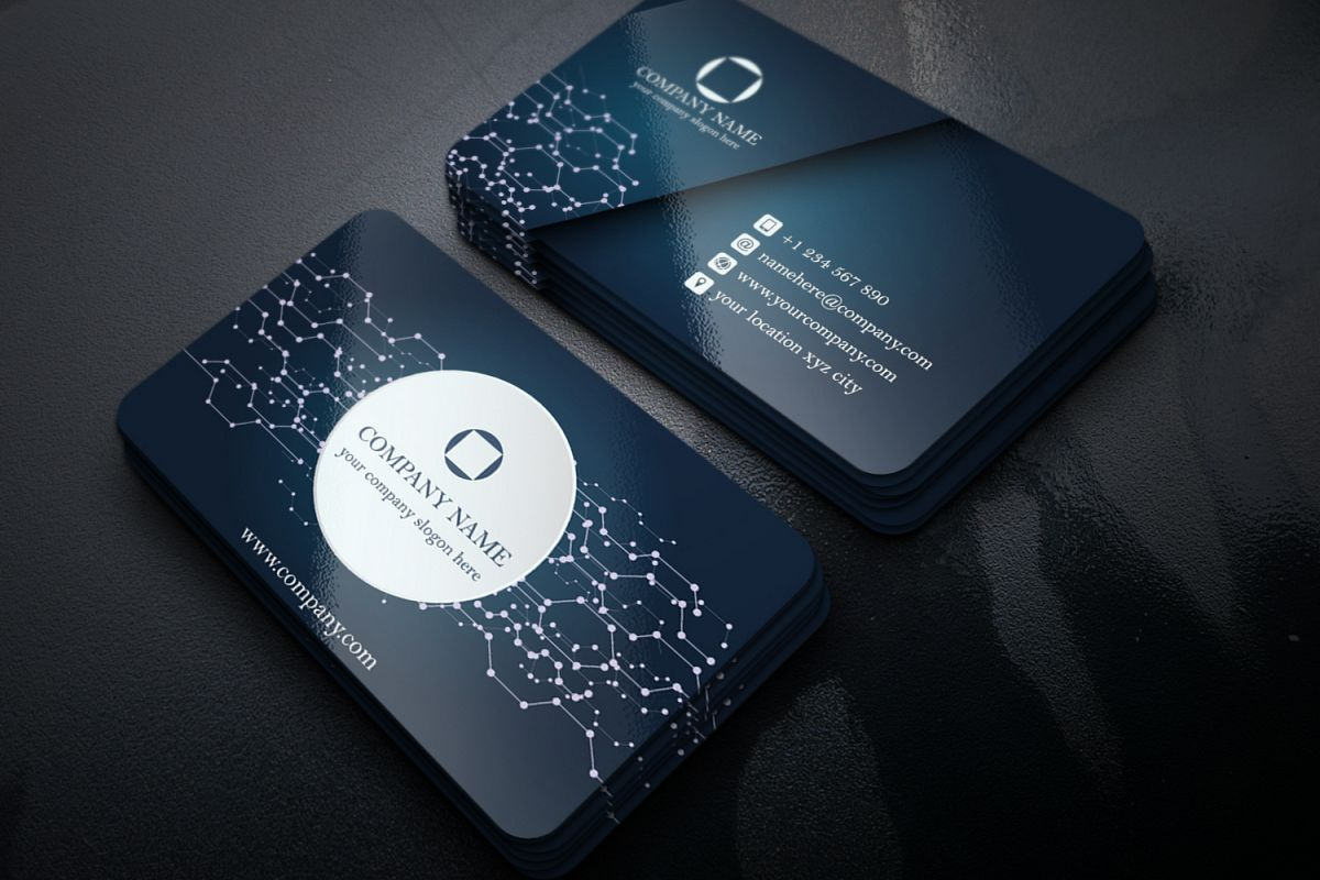 Abstract Business Card (with Electronic | Design Bundles