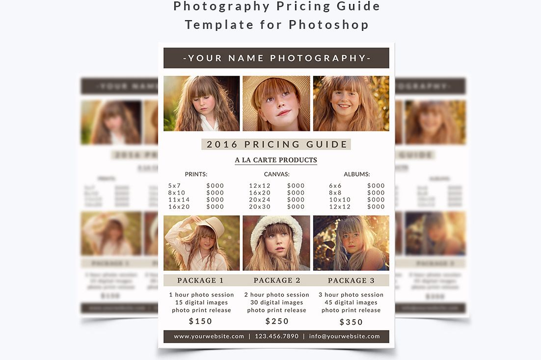 Photography Pricing Guide Template example image