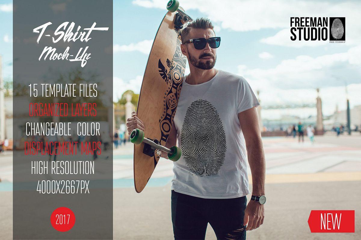 Men's T-Shirt Mock-Up Vol.3 2017 example image