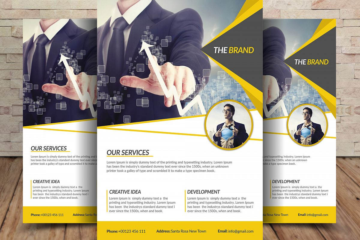 Business flyer template by saniaijaz design bundles business flyer template example image flashek Images