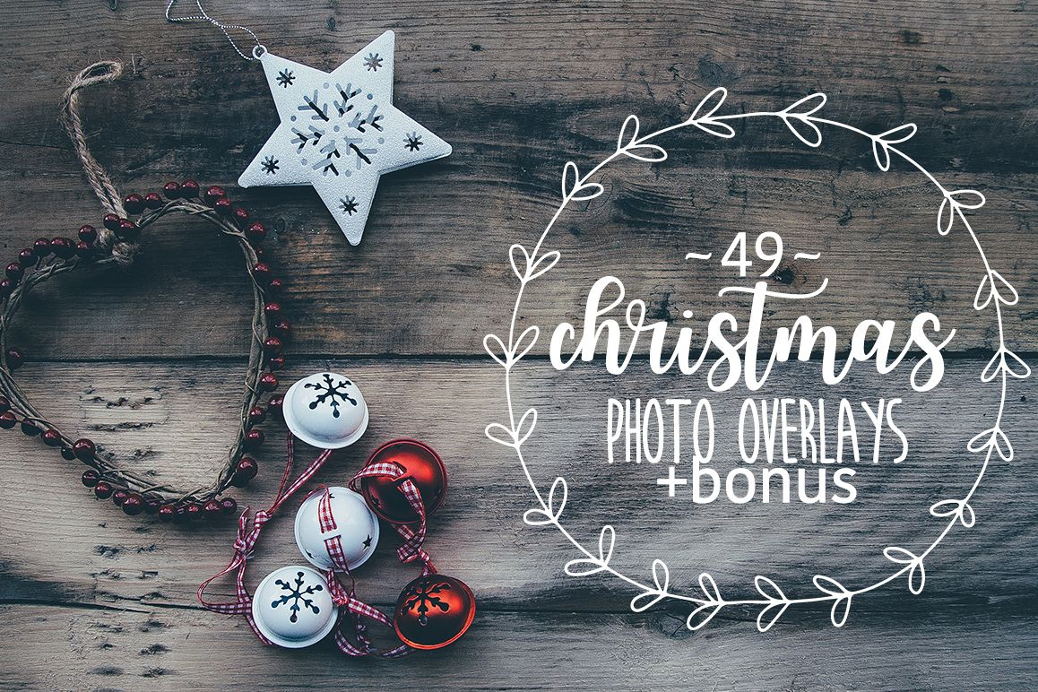 49 Christmas photo overlays example image