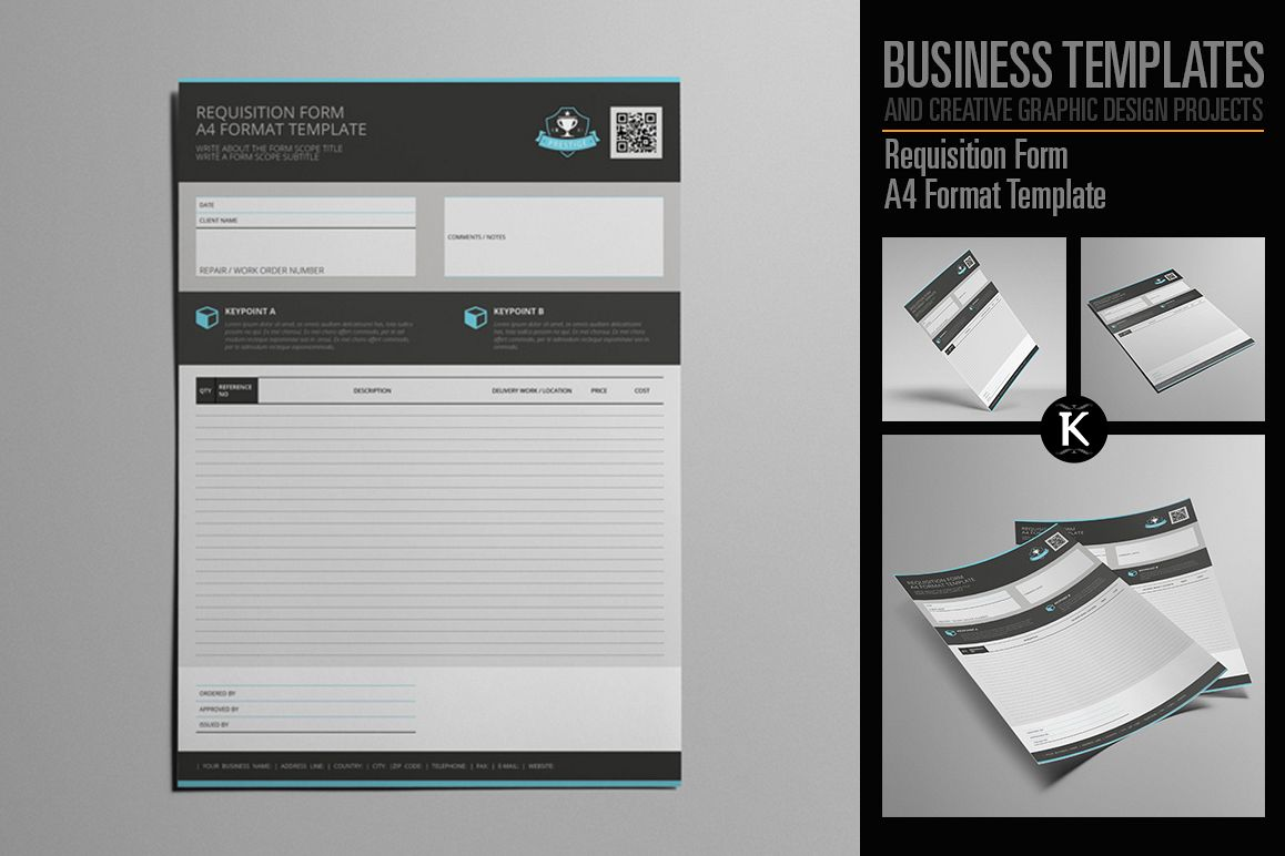 Requisition Form A4 Format Template by   Design Bundles