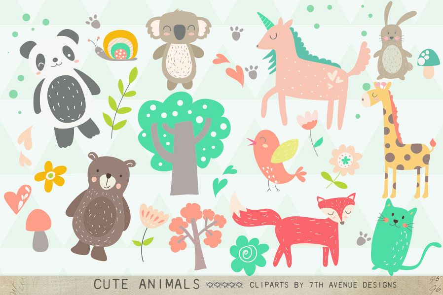 Cute Animals Clipart example image