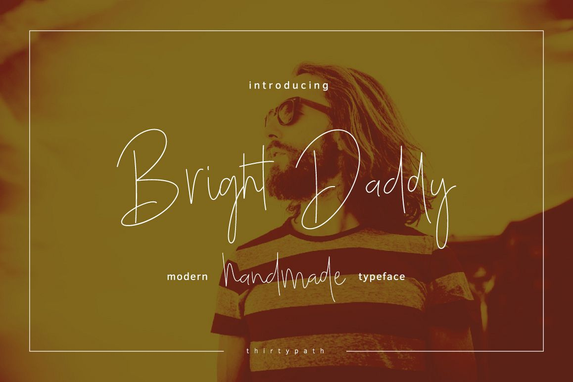 Bright Daddy typeface example image