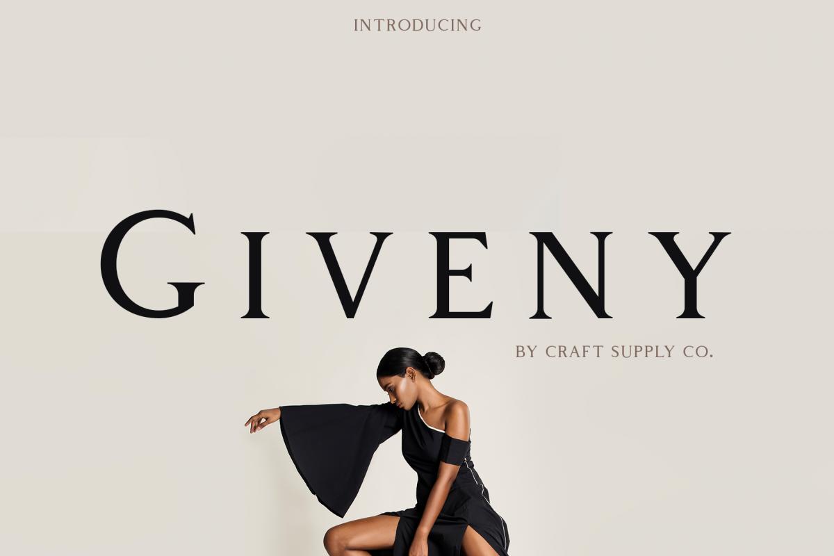 Giveny - Classy Serif Font example image